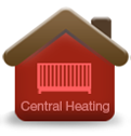 Central heating engineers in the parking barn